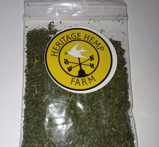 Dried hemp greens